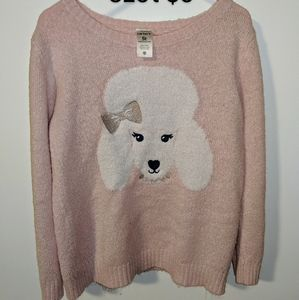 Girls 5T poodle sweater